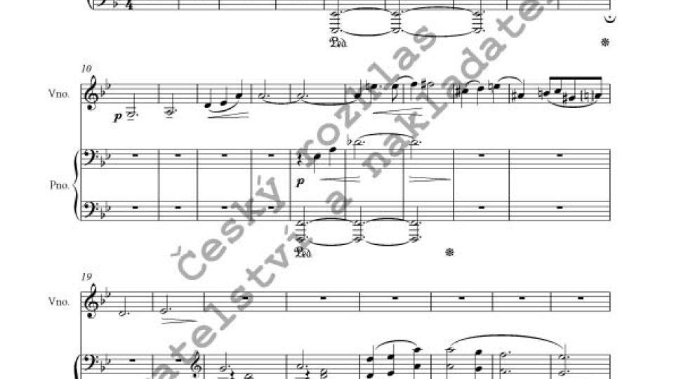 Josef Bohuslav Foerster - Dvě impromptus pro housle a klavír, op. 154