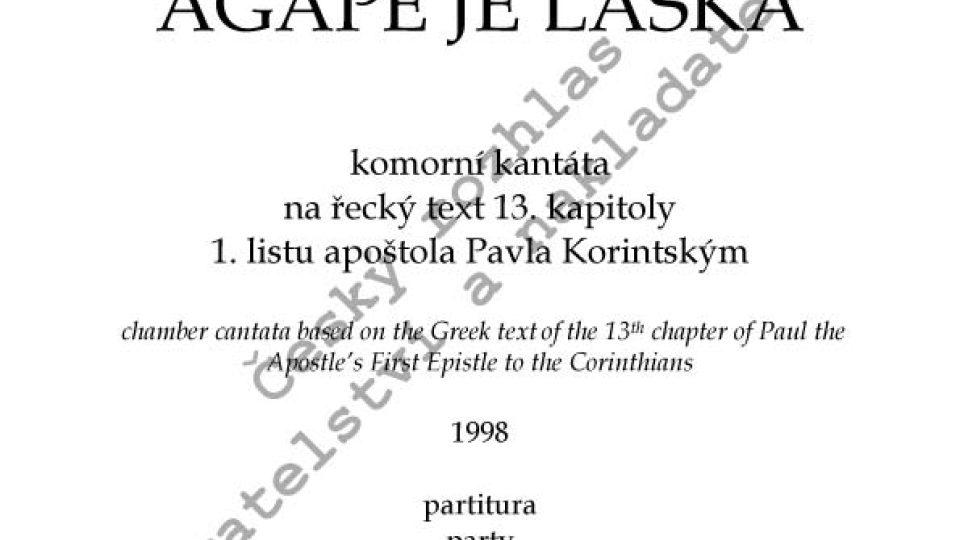 Svatopluk Havelka - Agapé je láska