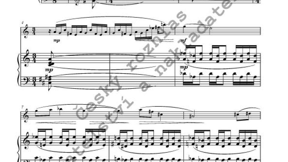 Jan Novák - Sonatina pro flétnu a klavír