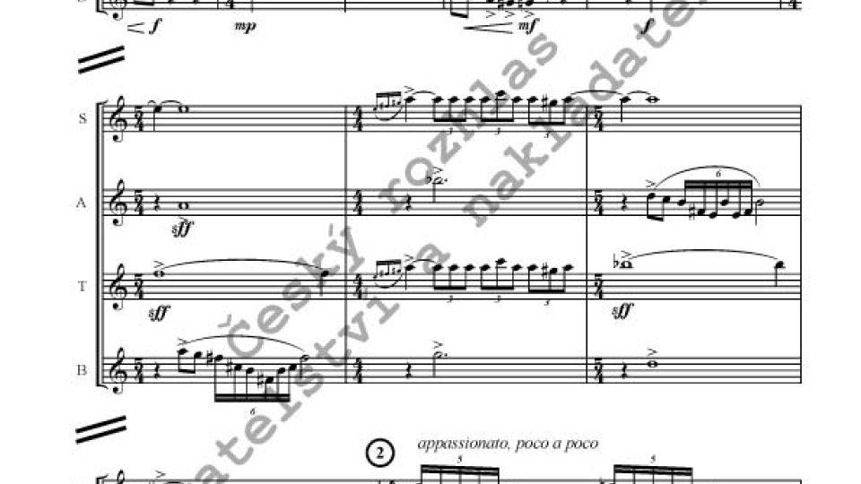 Jiří Pauer - Suita pro čtyři saxofony