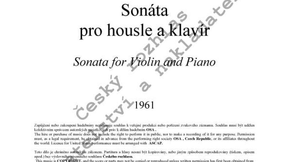 Ivana Loudová - Sonáta pro housle a klavír