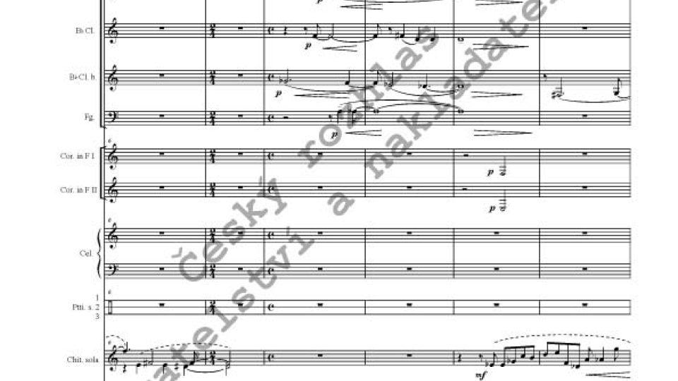 Martin Hybler - La musica della luna/partitura