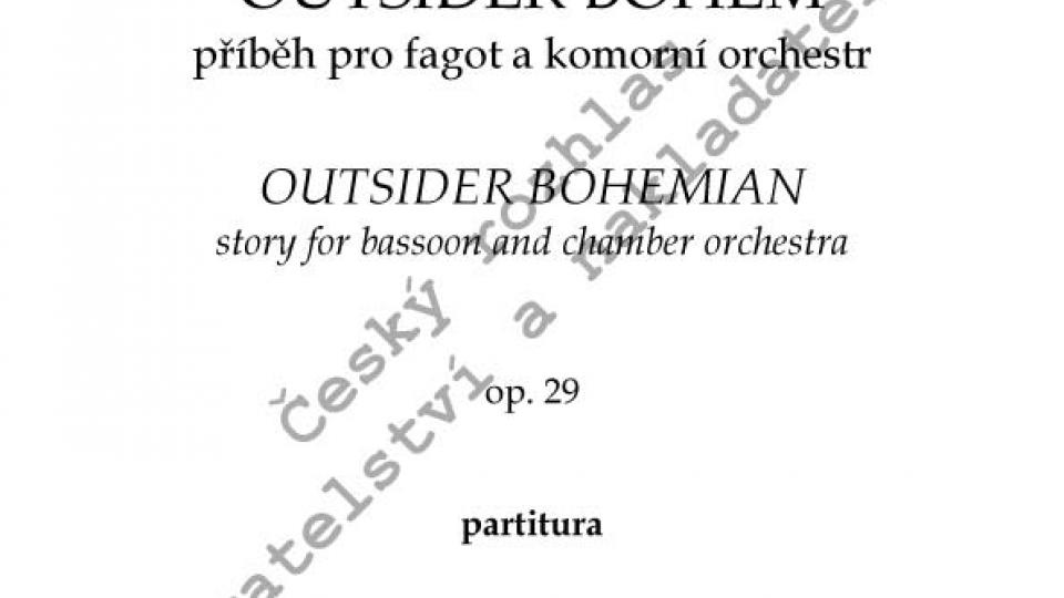Martin Hybler - Outsider bohém, op. 29/partitura