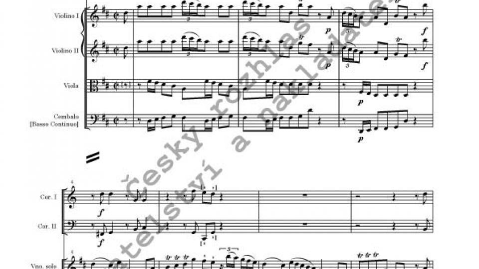 František Benda (editor Václav Luks) - Koncert pro housle a orchestr D dur