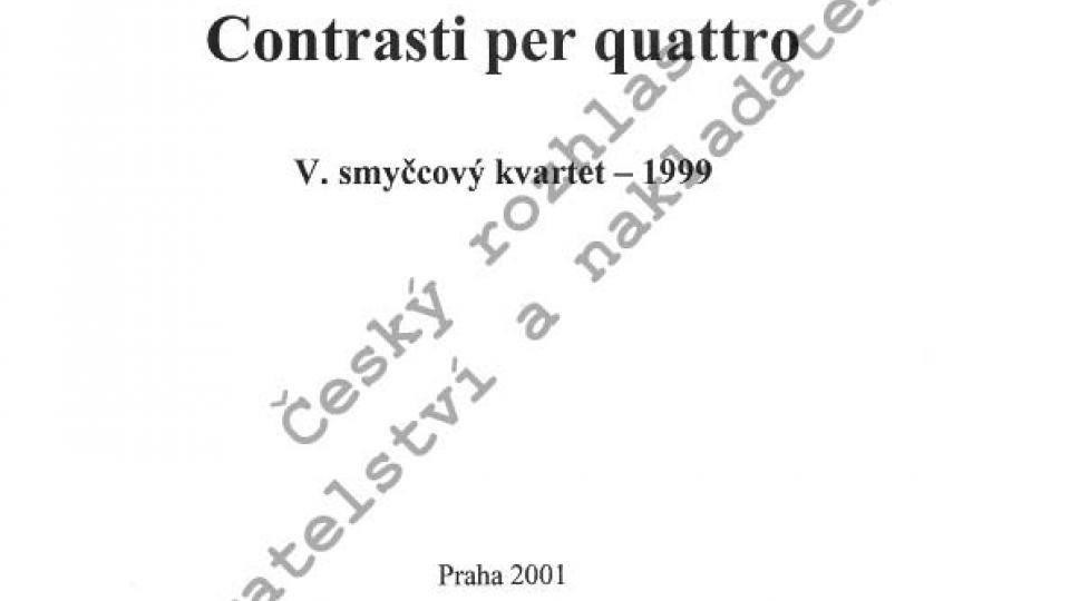 Zdeněk Lukáš - Contrasti per quattro