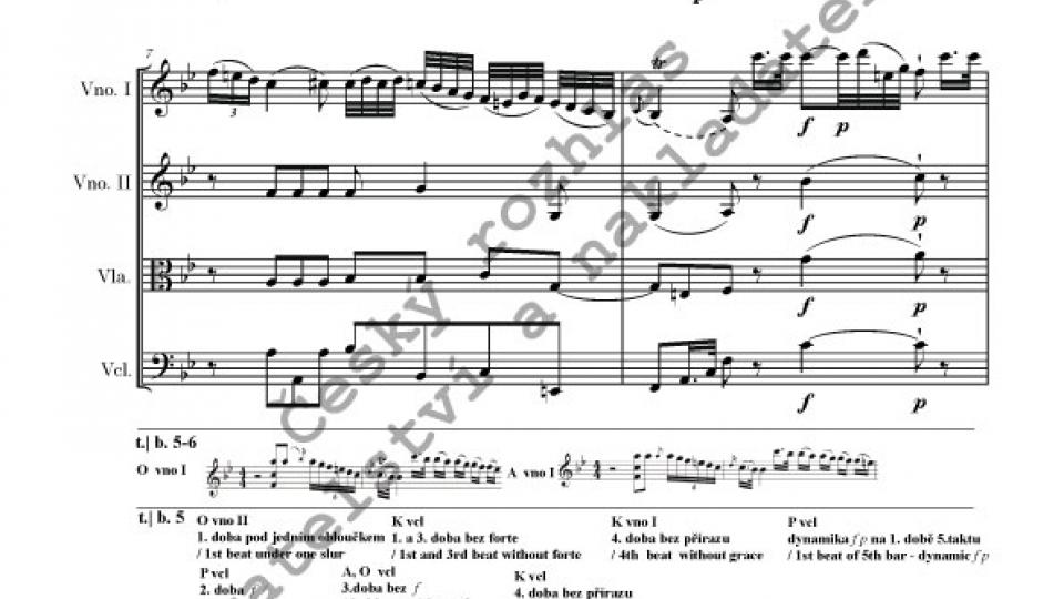 Smyčcový kvartet B dur - František Xaver Richter