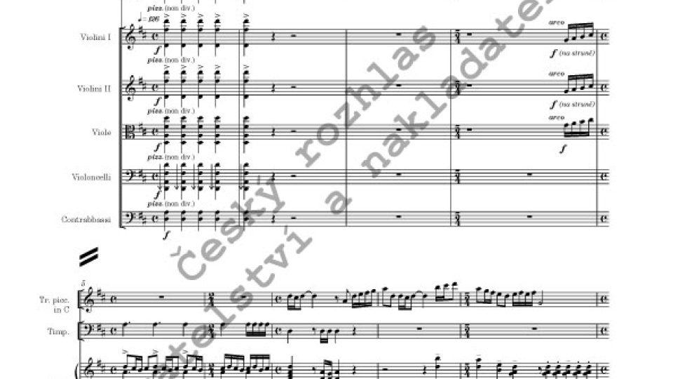 Barokní reminiscence - Jan Kučera / partitura