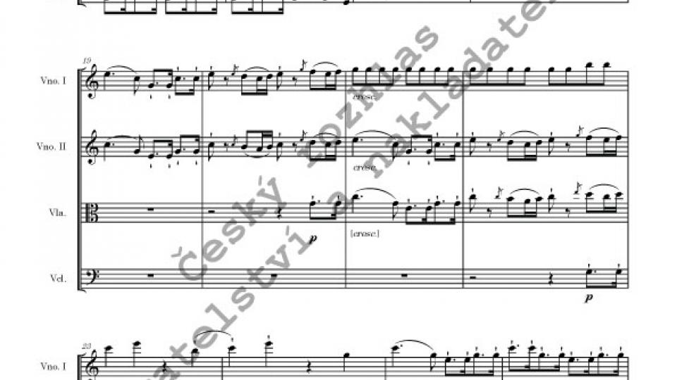 Smyčcový kvartet C dur - Jan Pavel Veselý