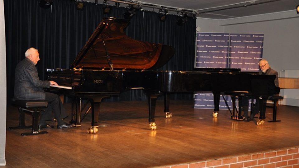 Společná improvizace Milana Dvořáka a Karla Růžičky