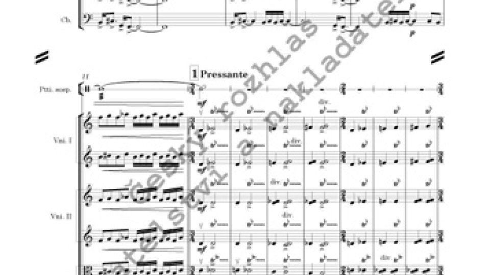 Koncert č. 1 pro varhany, tři trubky, smyčce a bicí nástroje - Jiří Teml