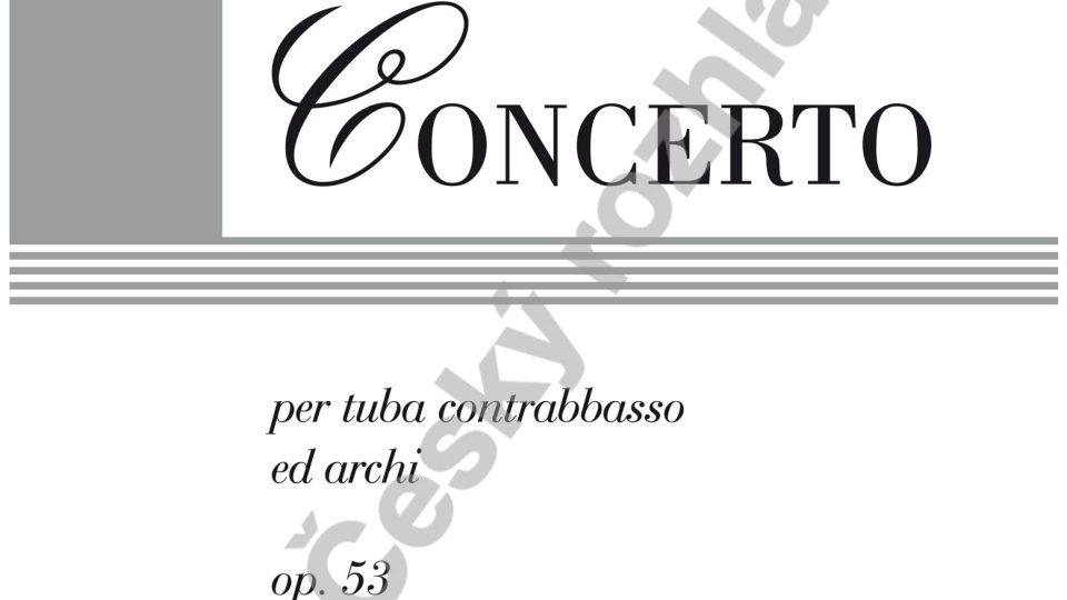 Koncert pro tubu a smyčce - František Domažlický / klavírní výtah