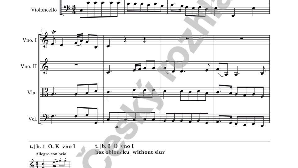 Smyčcový kvartet C dur - František Xaver Richter (ed. Marek Štryncl)