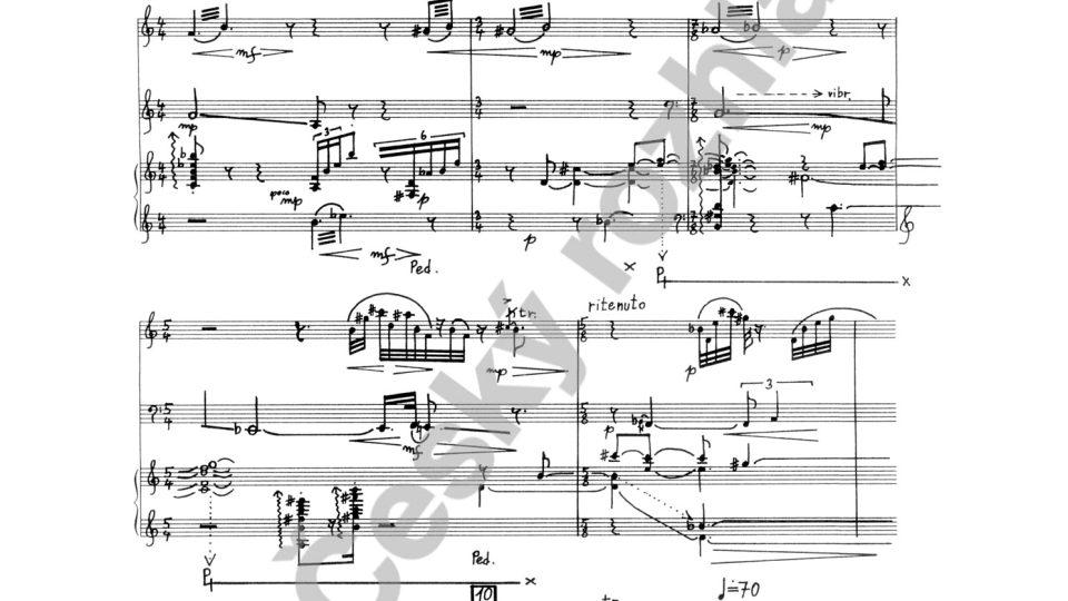 Kaligramy II. pro klavírní trio - Ondřej Štochl