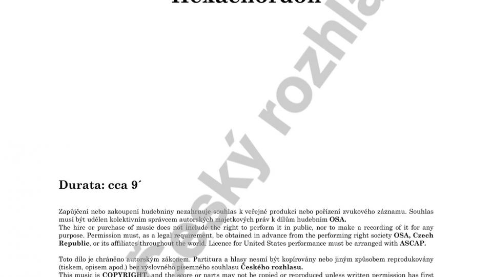Hexachordon pro kytaru (amplifikovanou ad lib.) - Vlastislav Matoušek