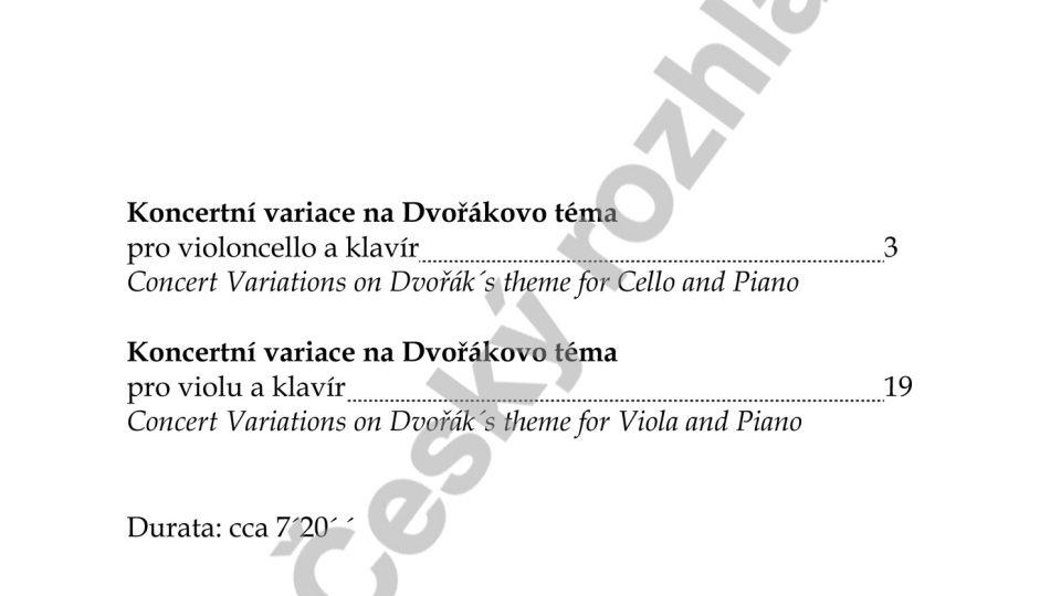 Koncertní variace na Dvořákovo téma - Jiří Kabát