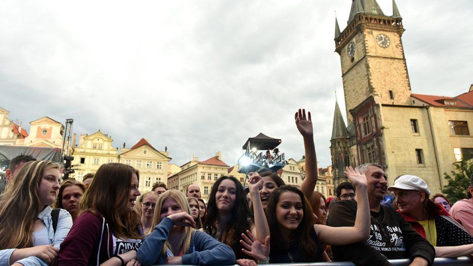 Koncert pro dárce krve na Staroměstském náměstí v Praze