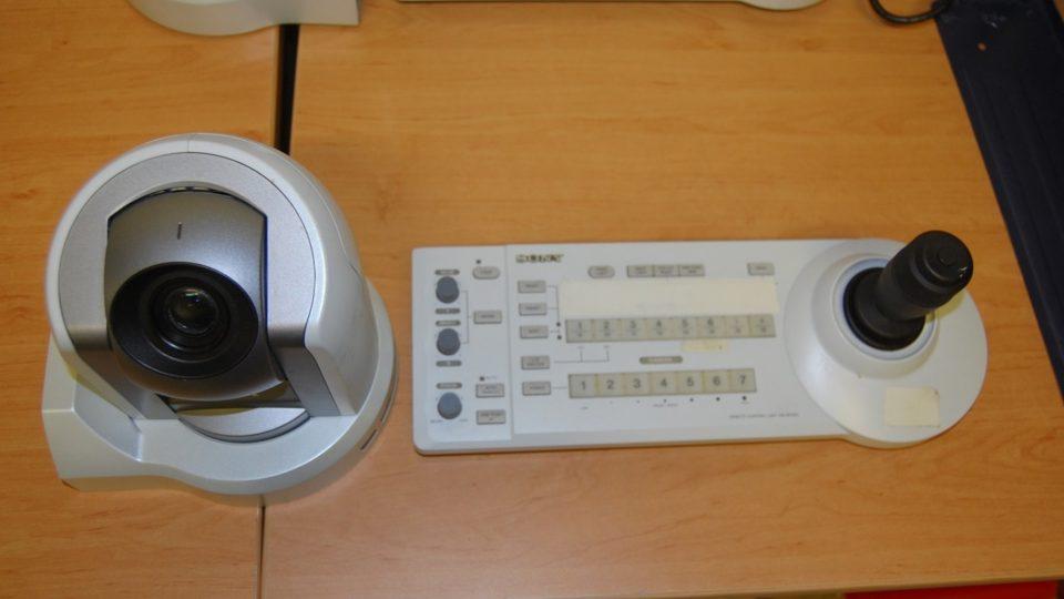 Kamera Sony BR 300-s ovládacím pultem