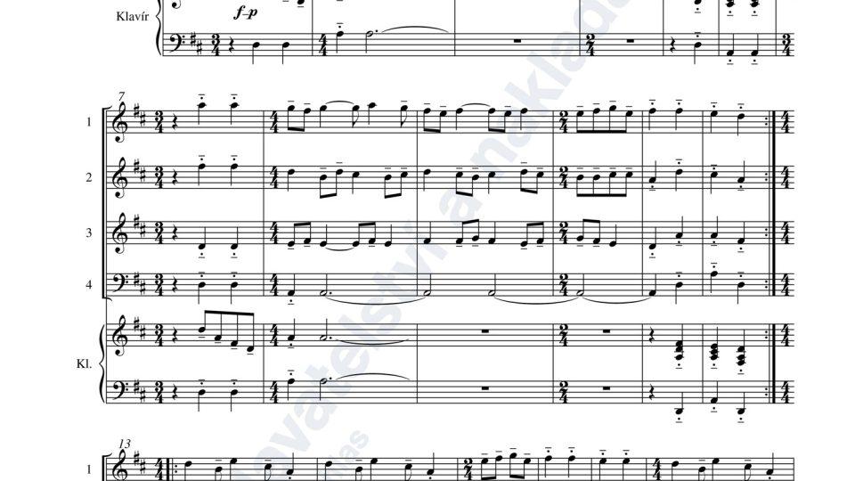 Sedm drobných skladeb pro souborovou hru - Jaroslav Krček