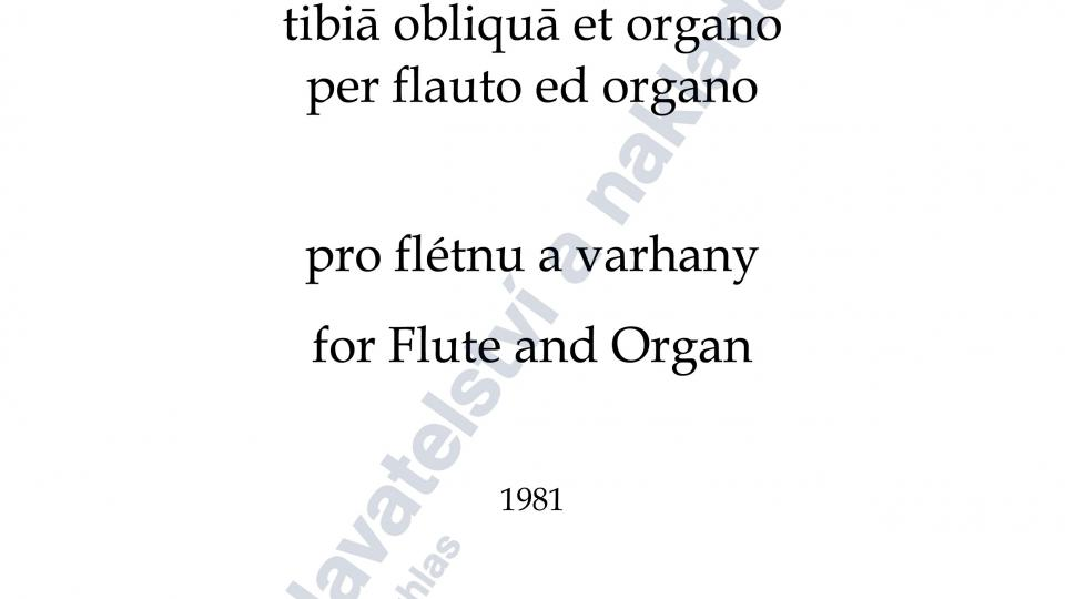 Sonata da chiesa II pro flétnu a varhany - Jan Novák