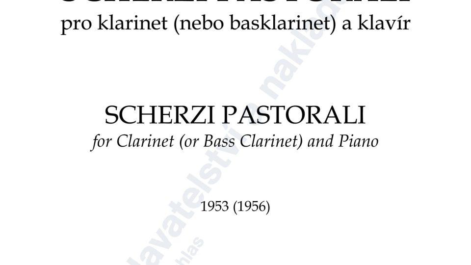 Scherzi pastorali pro klarinet (nebo basklarinet) a klavír - Jan Novák