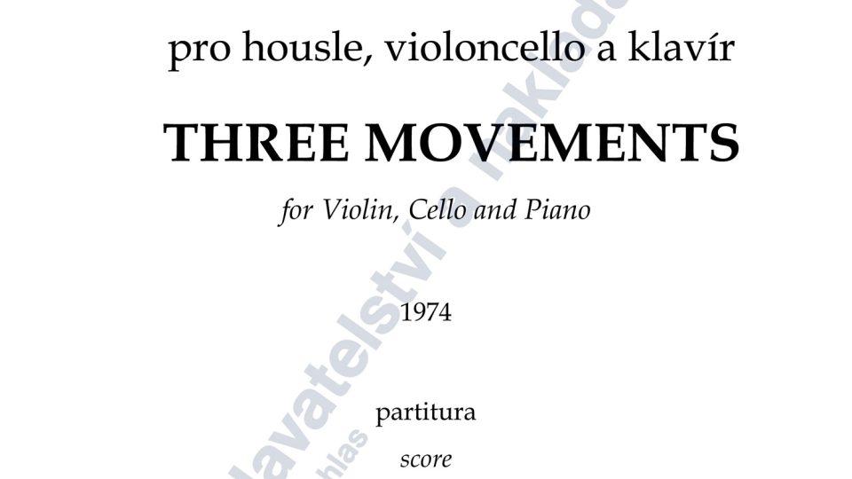 Tři věty pro housle, violoncello a klavír - Jiří Jaroch